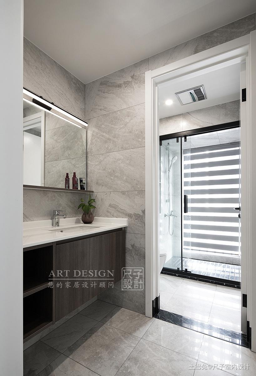 向往的生活四居住宅美式风格卫浴装饰设计图卫生间洗漱台美式经典卫生间设计图片赏析