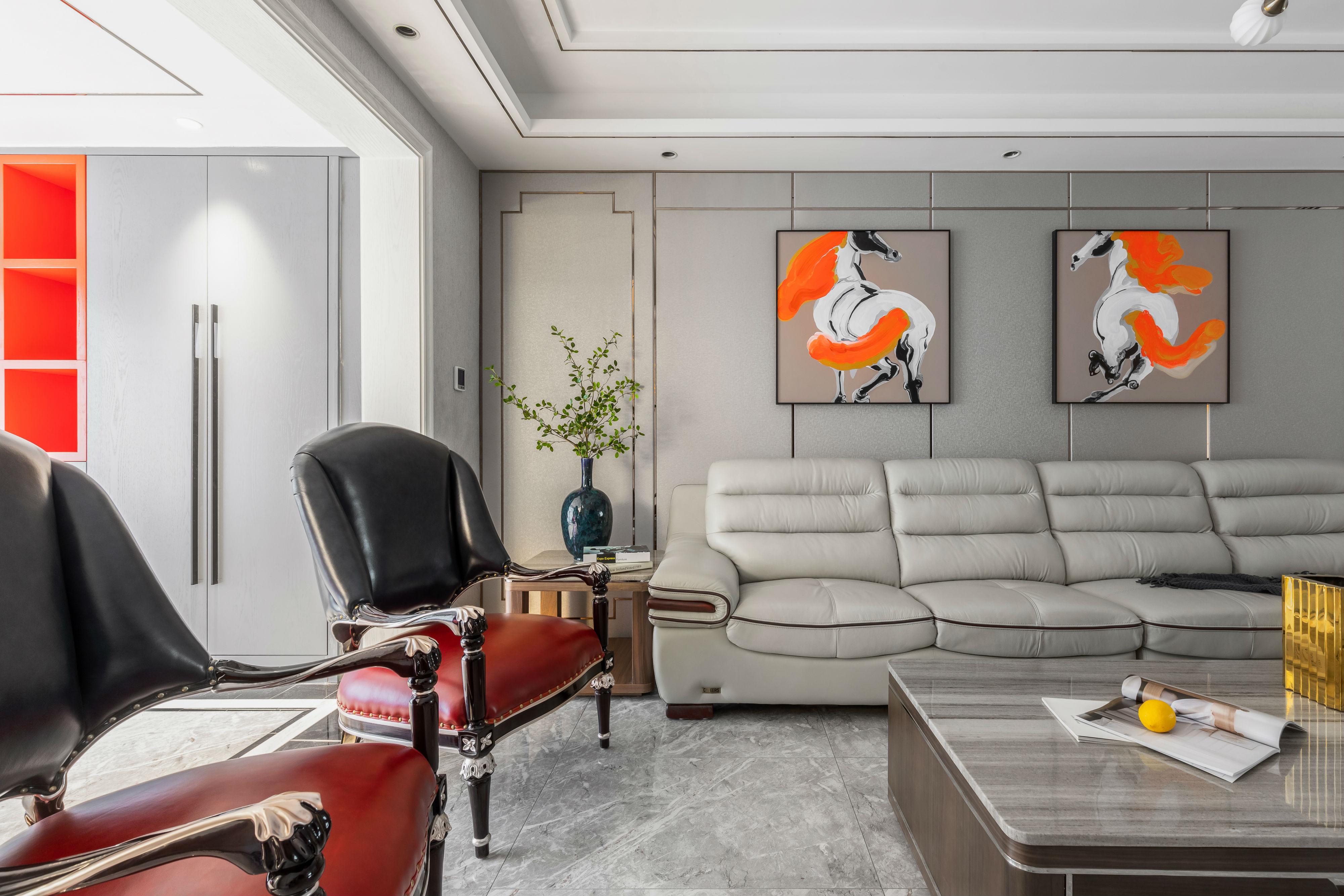 精美73平混搭复式客厅设计效果图客厅