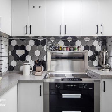 柔软时光三居住宅空间北欧风格厨房装饰设计图