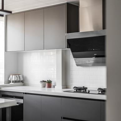 一米阳光北欧风四居厨房设计图