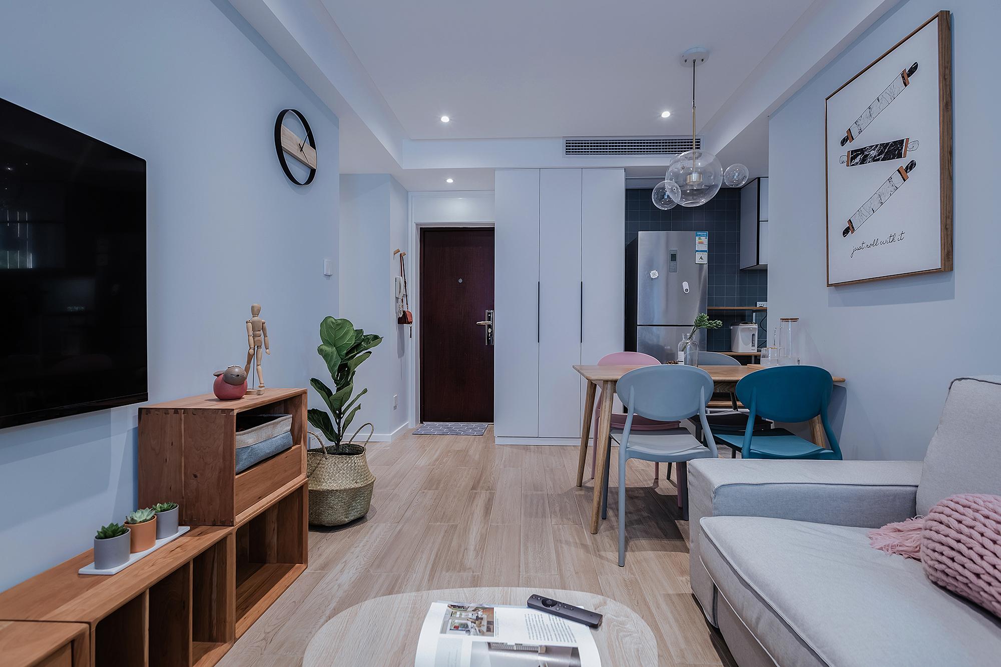 悠雅55平简约小户型客厅装修美图客厅现代简约客厅设计图片赏析