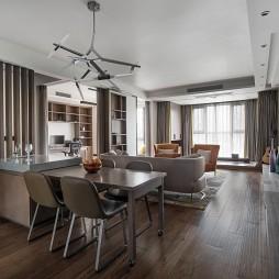 高端稳重的现代风格四居室客厅设计