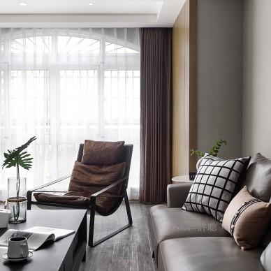 高雅的现代风格三居室客厅设计
