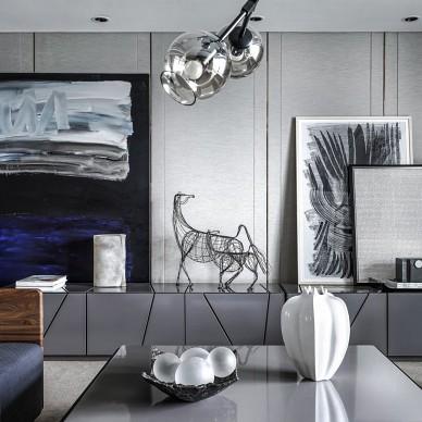 工业风 LOFT风格三居室客厅设计图