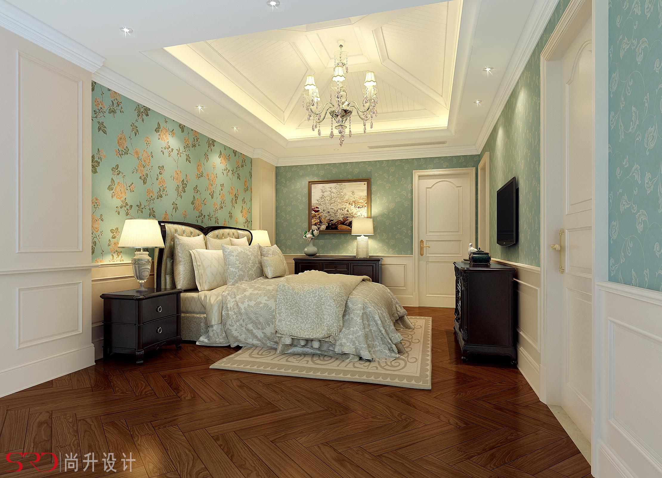 主卧装修实景图卧室美式经典卧室设计图片赏析
