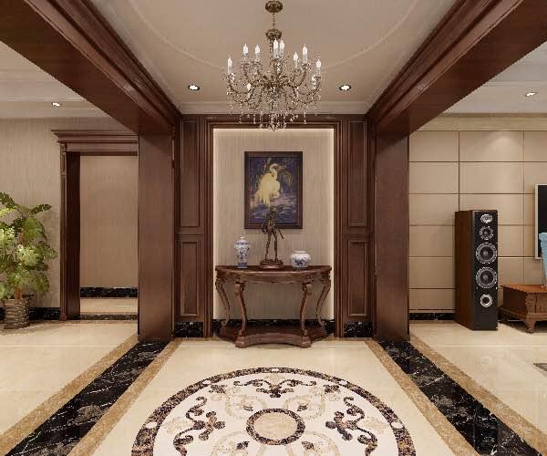 玄关地板瓷砖效果图玄关美式经典玄关设计图片赏析