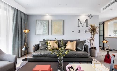 精美143平北欧二居客厅装修设计图客厅窗帘121-150m²二居北欧极简家装装修案例效果图