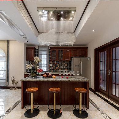 新中式别墅装修效果图_新中式别墅设计案例_3397233