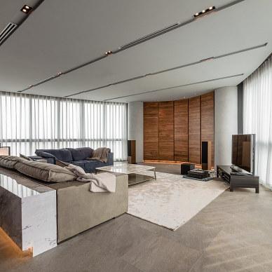现代风格之回归本质生活客厅设计图