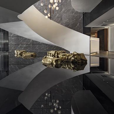 混搭风格西安万科翡翠国宾:当代美学,向时代致敬售楼楼梯