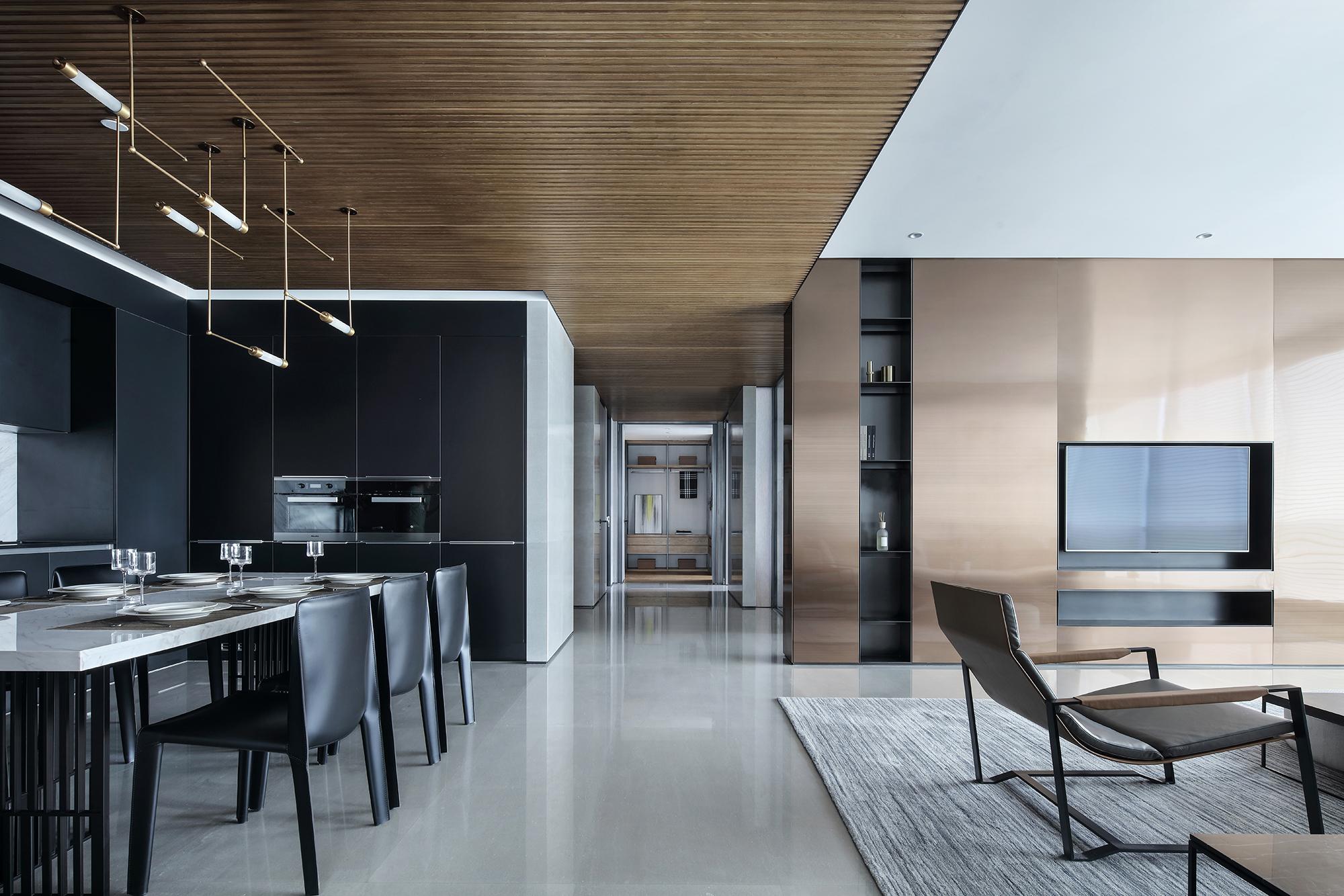 简洁516平现代别墅客厅装饰图客厅1图