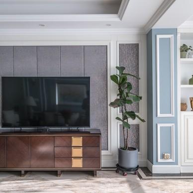 美式篱笆style---设计师黄永坤客厅设计