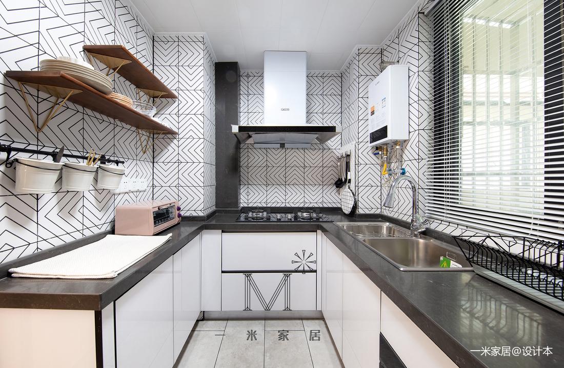 质朴90平北欧二居设计效果图餐厅北欧极简厨房设计图片赏析