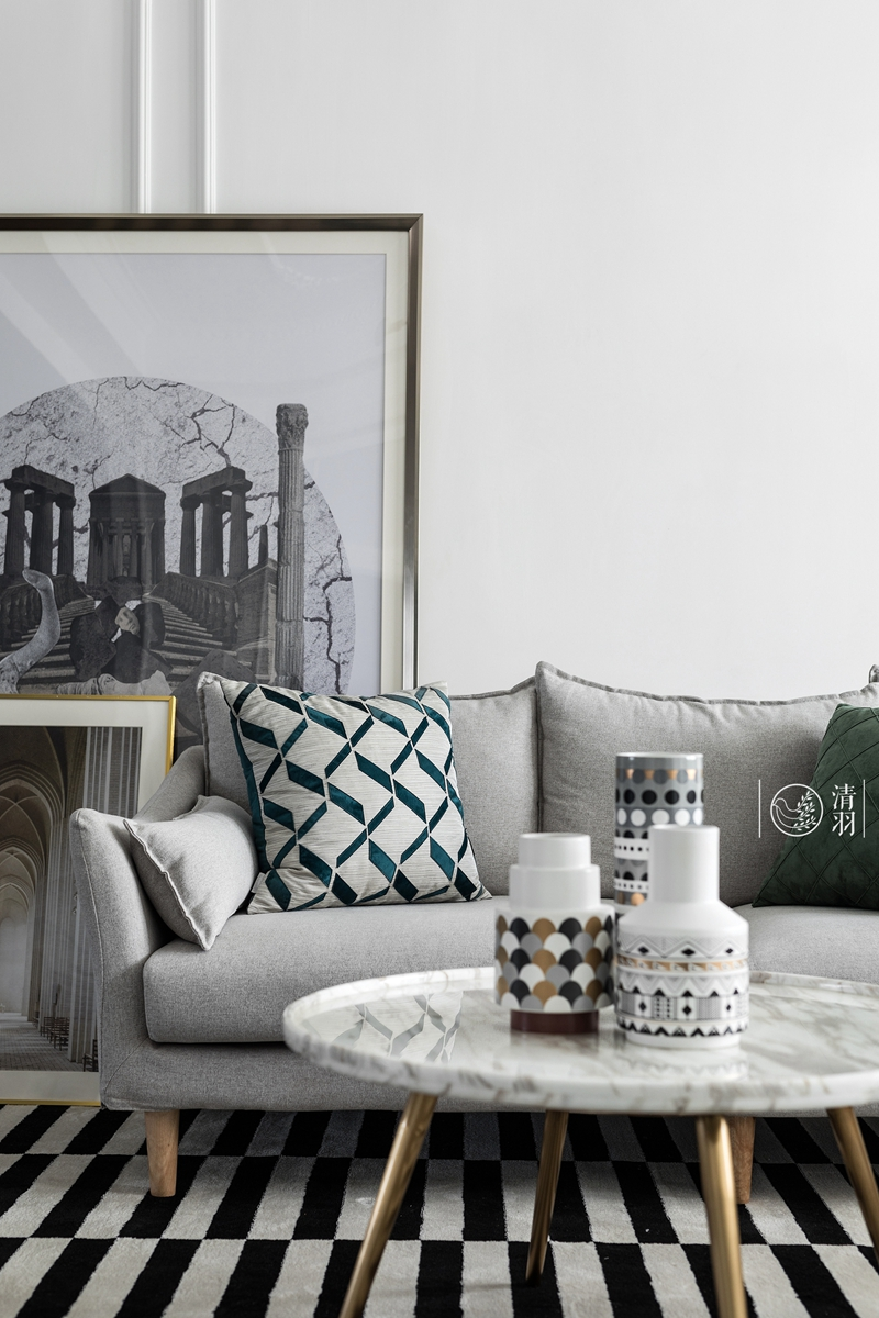 明亮25平法式小户型客厅装修装饰图客厅茶几8图欧式豪华客厅设计图片赏析