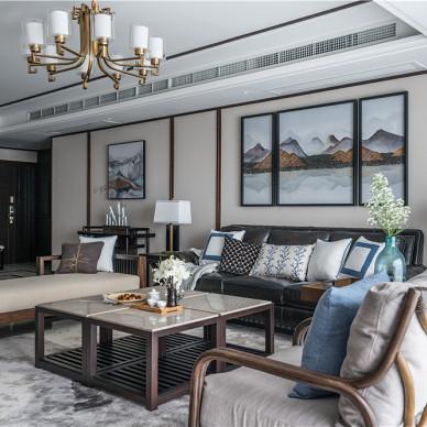 中式轻解罗裳--设计师彭羽客厅设计