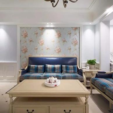 沙发墙上的花壁纸,精致又浪漫_3403258