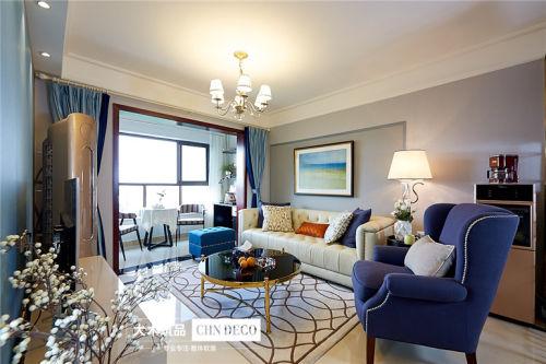 优美79平现代三居客厅效果图欣赏客厅窗帘61-80m²现代简约家装装修案例效果图
