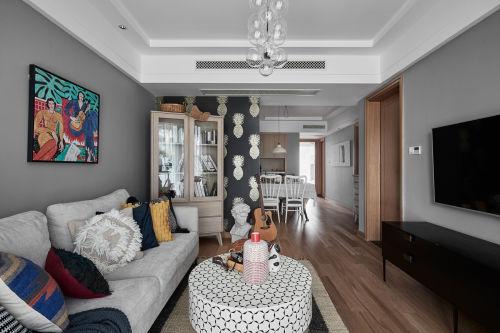 精美122平混搭三居客厅装修效果图客厅木地板