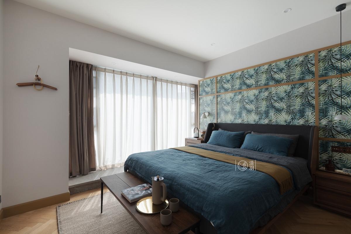 优美157平混搭四居卧室装修图片卧室窗帘潮流混搭卧室设计图片赏析