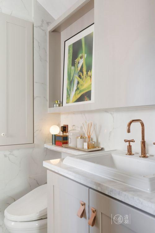典雅100平混搭四居卫生间效果图卫生间洗漱台1图