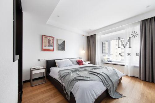 简洁97平现代三居客厅实景图客厅窗帘