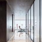 现代风格宽敞走廊设计图