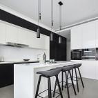 现代风格开放式厨房设计图