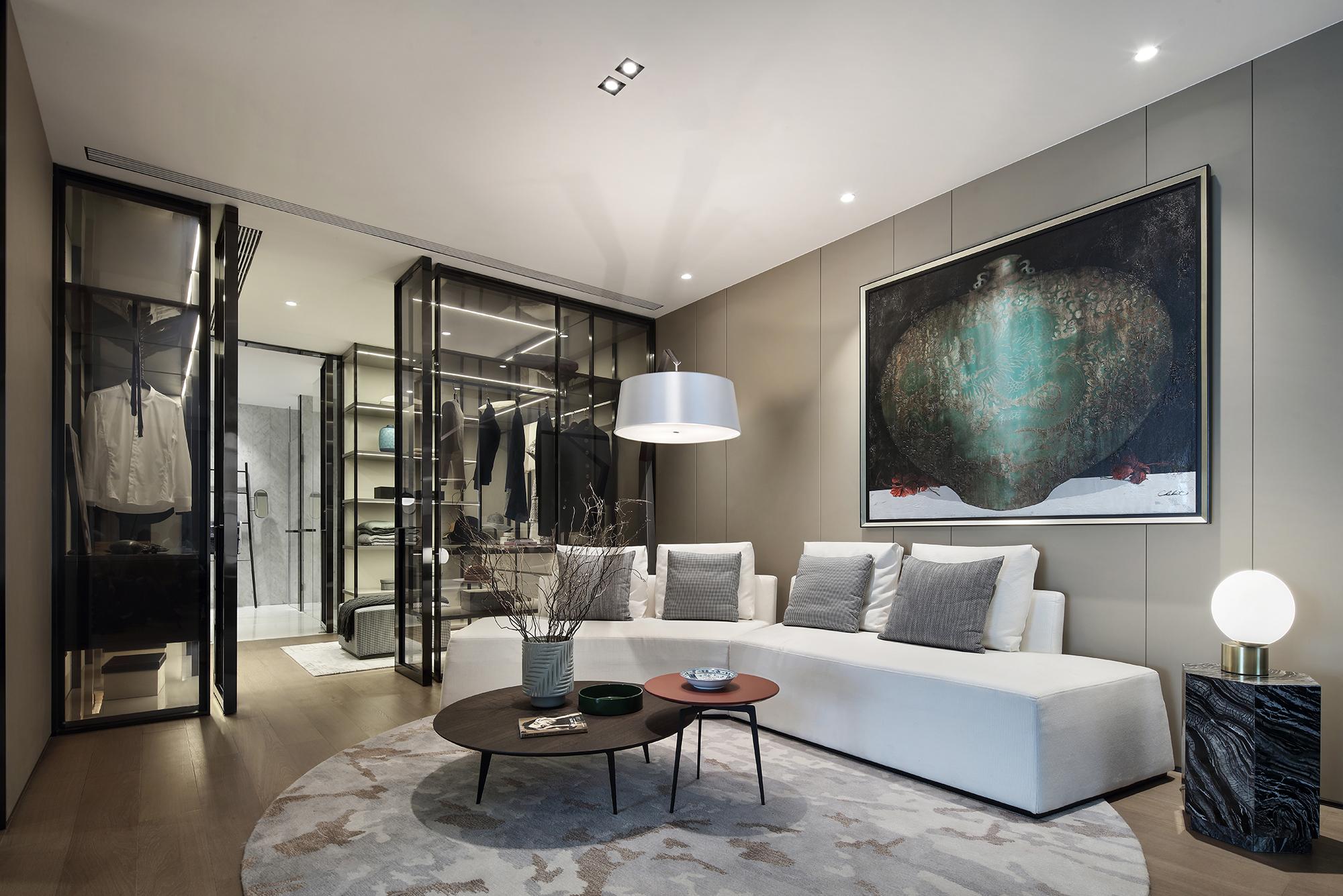 悠雅662平现代别墅休闲区效果图片大全客厅现代简约客厅设计图片赏析
