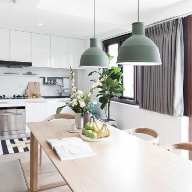 北欧风格清新森系餐饮小客厅设计图