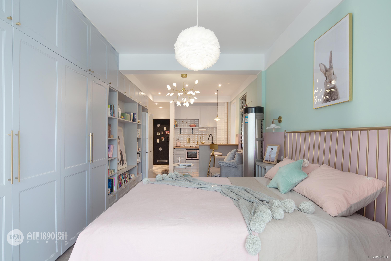 简洁45平北欧小户型卧室实拍图卧室北欧极简卧室设计图片赏析