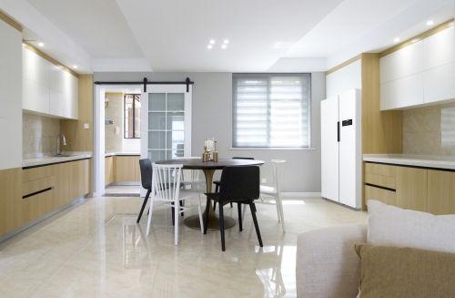 华丽130平北欧四居餐厅布置图121-150m²四居及以上北欧极简家装装修案例效果图