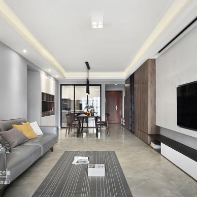 无与伦比的简约风格三居室客厅设计