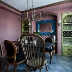 处女座的法式风格复式餐厅设计