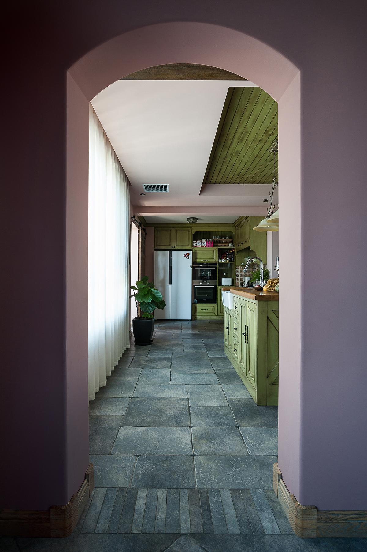 质朴54平法式复式厨房设计美图餐厅欧式豪华厨房设计图片赏析