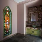 处女座的法式风格复式卫浴设计