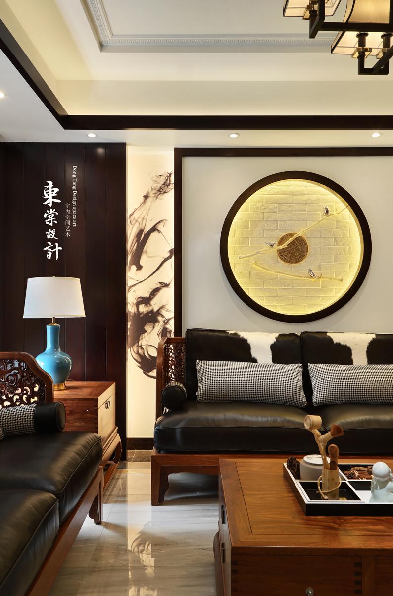 大气84平中式复式客厅装修案例客厅1图