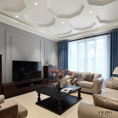 简美风格别墅客厅设计