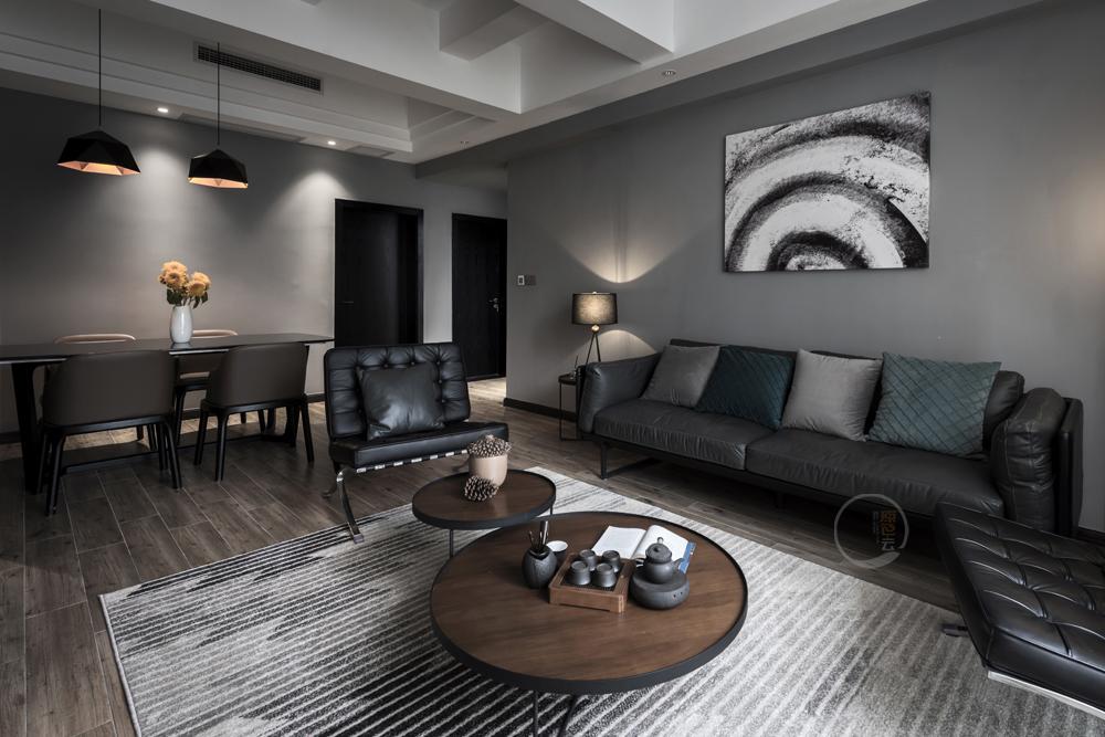 康城简约风跃层三居客餐厅设计图客厅2图现代简约客厅设计图片赏析