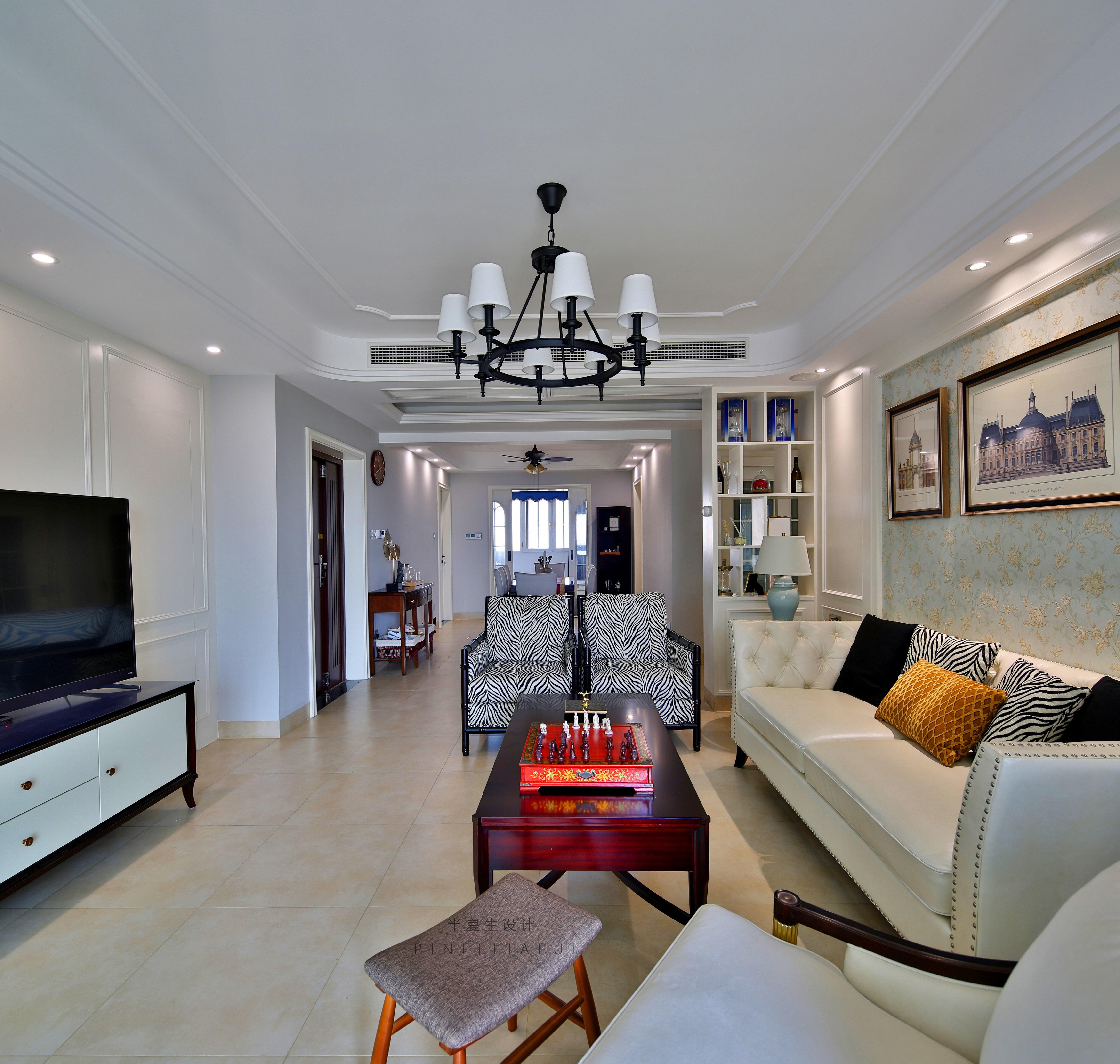优雅125平美式三居客厅实景图客厅美式经典客厅设计图片赏析