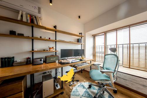 质朴65平LOFT二居书房图片欣赏功能区窗帘