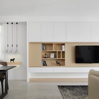 干净明快的客厅设计