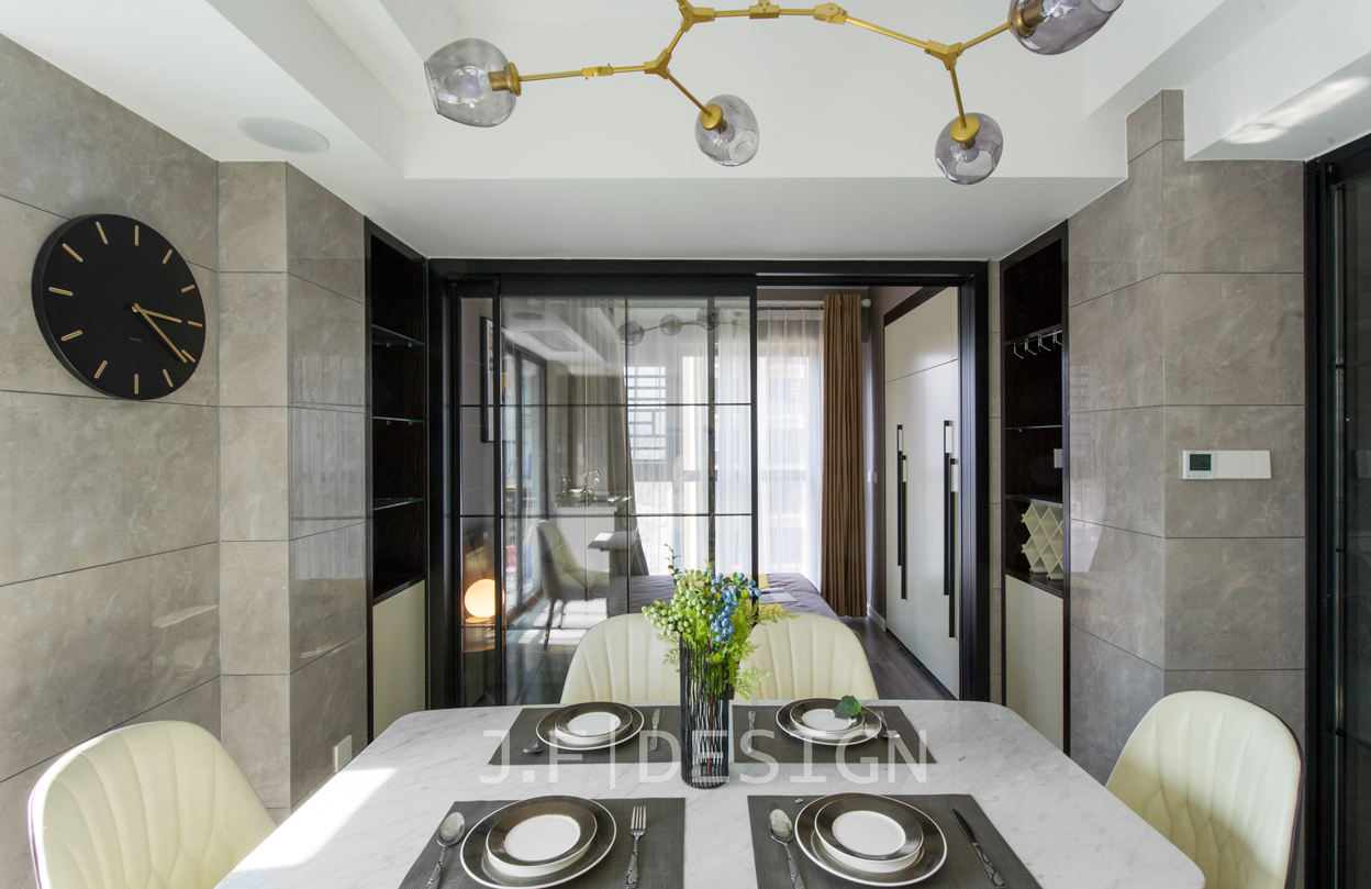悠雅144平现代四居餐厅装潢图客厅现代简约客厅设计图片赏析