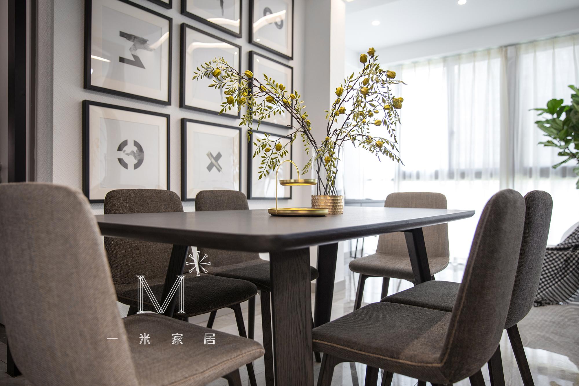 质朴96平现代三居装修设计图现代简约设计图片赏析