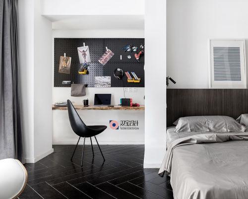 优美217平现代三居卧室装修图片201-500m²三居现代简约家装装修案例效果图