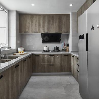 现代风敞开式厨房装修设计