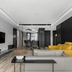 陆家嘴三居现代客厅设计