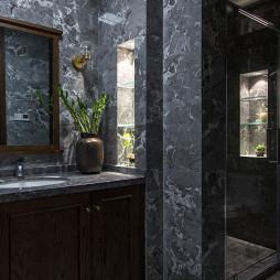 中式别墅卫浴洗手台设计