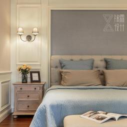 法式二居主卧壁灯设计