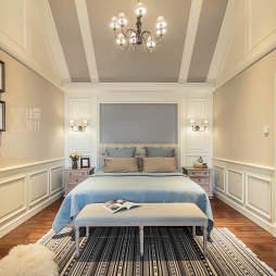 法式二居卧室吊灯设计