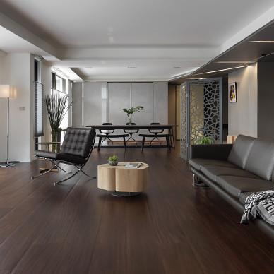 暗黑系現代客廳設計